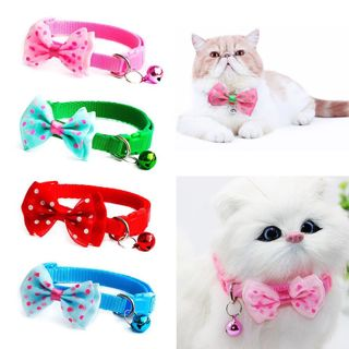 Candy Color Adjustable Bow Tie Bell Bowknot Sale Collar Necktie Puppy Kitten Dog Cat Pet