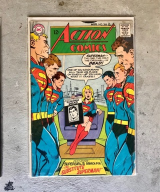 Action Comics #366 12 cent Cover Silver Age