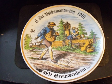 souvenir plate germany