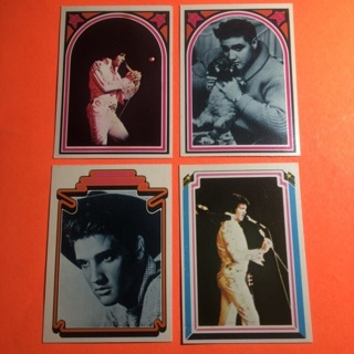 4 Elvis 1978 Boxcar Cards!