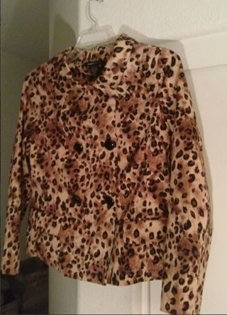 WOMEN'S Gorgeous Cheetah Leopard Blazer Jacket Coat Formal