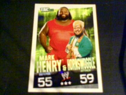 WWE slam attax Mark Henry and Hornswaggle card