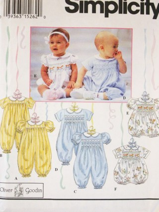 Free Oliver Goodin Collection Babys Smocked Romper Sewing