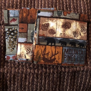 "28 4x4""pre-cut fabric squares"
