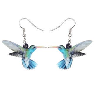 1 Pairs Acrylic Hummingbird Earrings