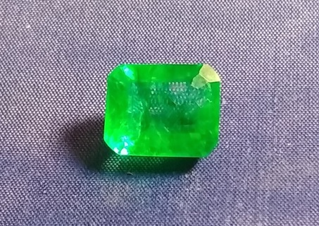 EMERALD NATURAL FROM ZAMBIA HUGE 10.46 CARATS SIZE 11X14 MM'S BEAUTIFUL LOOK WOW