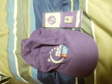 Relay for life hat and pin