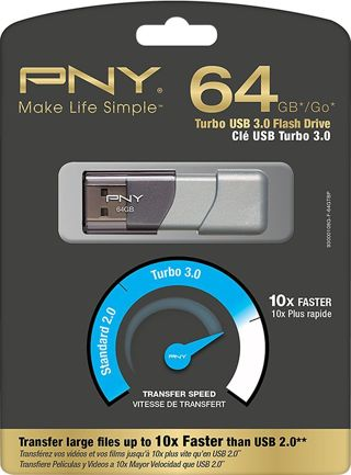 1 NEW PNY Turbo 64GB USB 3.0 Flash Drive - P-FD64GTBOP-GE FREE SHIPPING