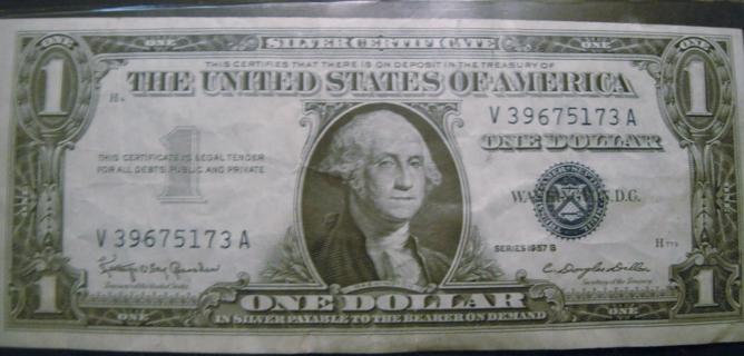 Free: 1957B One Dollar Silver Certificate - Coins - Listia.com ...