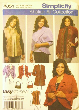 Free Khaliah Ali Plus Size Sewing Pattern Womens Vest