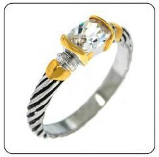 DESIGNER CABLE STACK RING SELECT SIZE COLORS NEW WEAR 1 OR MORE GREAT LOOK SIMULATED DIAMOND