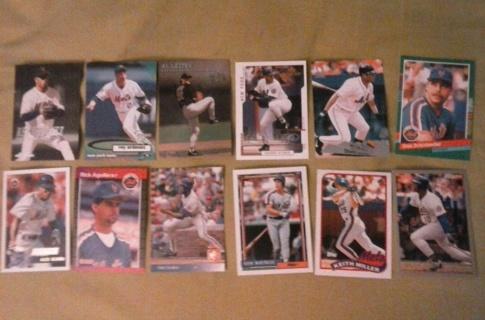 12 card new york mets lot