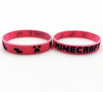 1 NEW Minecraft Wristband Bracelet Video Game Gear Accessories FREE SHIPPING