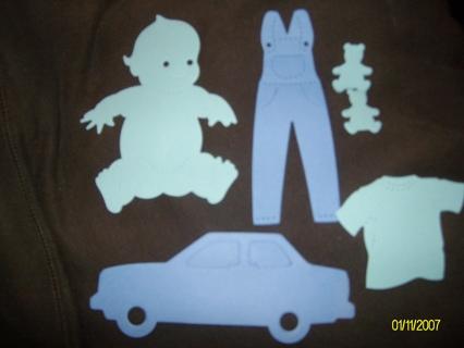 Free Baby Scrapbook Cutouts Scrapbooking Paper Crafts Listia