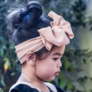 Fashion Baby Girl Kid Fabric Hair Band Soft Elastic Turban Bow Headband Headwrap