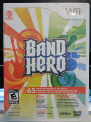 WII BAND HERO 65 SONGS VIDEO GAME W/ BOOK!