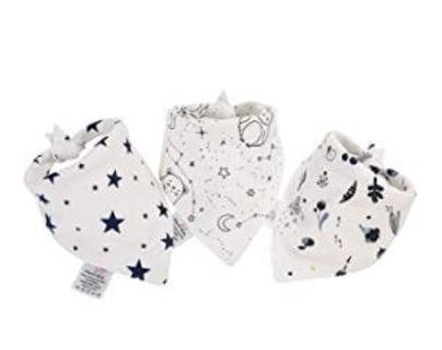 Organic Cotton Dogs Scarves Extra Soft Dog Bandana 3 pack