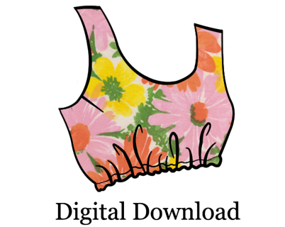 Free: Crop Top PDF Sewing Pattern - Cropped Tank Top by Mixy Mitzy ...