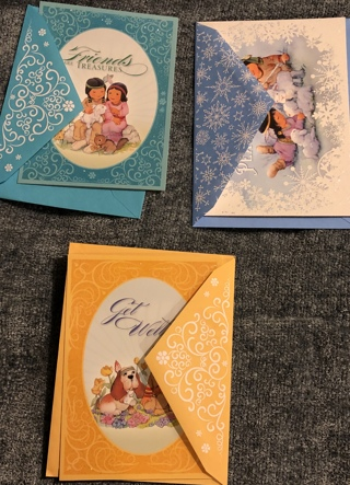 Three Beautiful Lakota Greeting Cards With Matching Envelopes. Get Well; Friendship; and Glory!