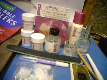 free acrylic student kit acrylic nail technology  makeup