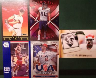 TIERED SPORTS LOT FOOTBALL BASEBALL BASKETBALL MORE BIDS BETTER CARDS AUTOS NUM JERSEY AND MORE