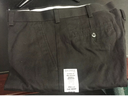 HUGE SALE! Two Pairs of Men's Pants Classic Fit Wrinkle Free size 36x40 Flat Front