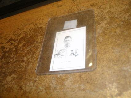 1950 vintage b.e. callahan eddie plank hof baseball card-a`s-ex++nr mt-look!