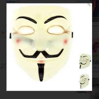 1 SALE! NEW Anonymous V for Vendetta Mask We Are Legion Guy Fawkes GIN