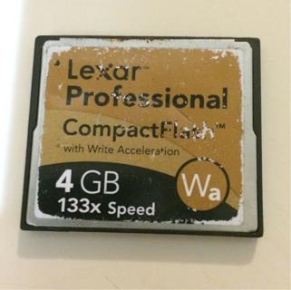 Great 4GB Lexar Compact Flash Card