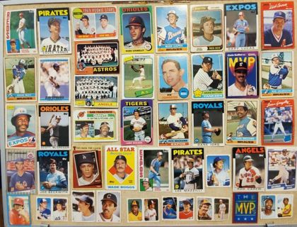 Huge Estate Collection of 43 Vintage Baseball Cards MVP's Rookie Team Stars Hall of Fame Stickers #1