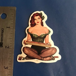 Sexy Pin Up Cigarette Lady Sticker Vinyl Decal NEW