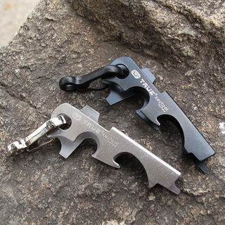 8 in 1 EDC Outdoor Survival Gear Keychain Stainless Steel Multi-function Tool