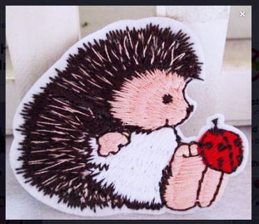 NEW HEDGEHOG & LADYBUG Patch IRON ON PATCH Applique Iron Badge Clothing Adhesive FREE SHIPPING