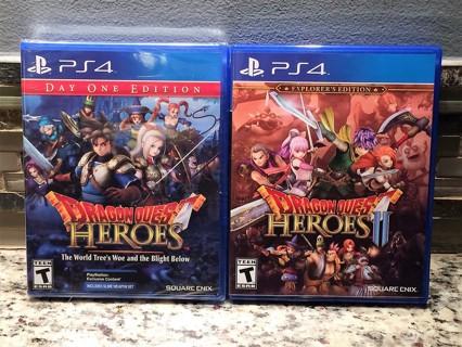 Dragon Quest Heroes Set  (PS4 / NEW)