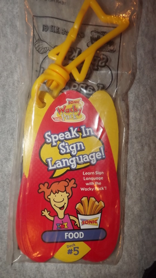 Free Speak In Sign Language A Sonic Kids Meal Toy Collectible