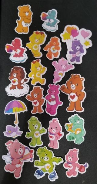 Lot of Carebears Restickable Stickers