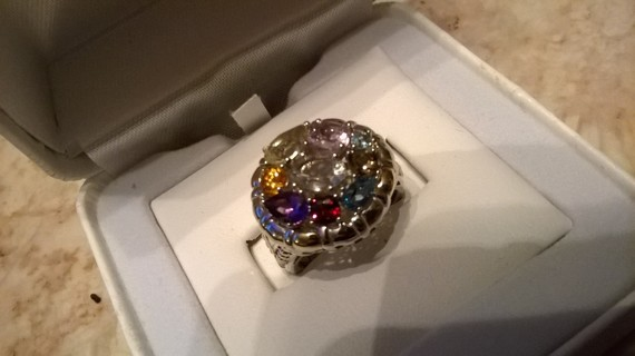 Sterling Silver Gemstone Ring Retails $275 NEW