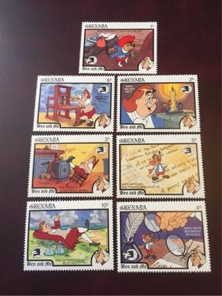 1989 Grenada mint set of 7 Disney