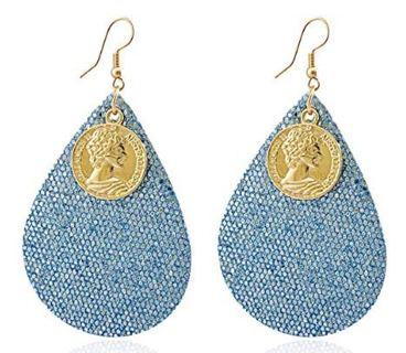 Hoop Rattan Earrings for Women Handmade Straw Wicker Braid Drop Dangle Tassel Shell Earrings