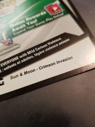 Pokemon Sun & Moon Crimson Invasion Code