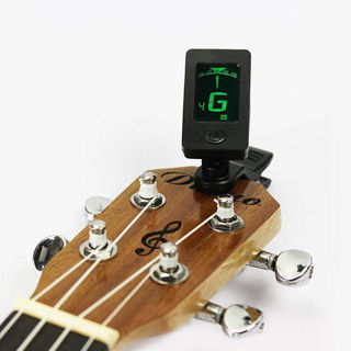 [GIN FOR FREE SHIPPING] LCD Clip-on Electronic Digital Guitar Tuner Chromatic Bass Violin Ukulele