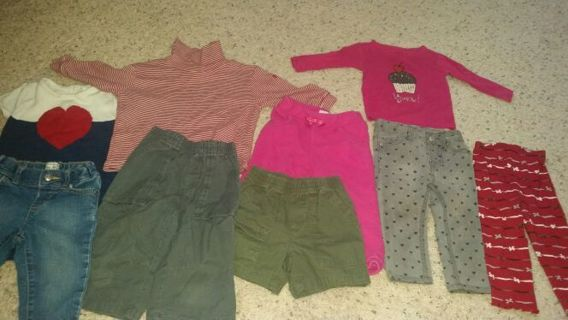 12-18 month girls toddler lot