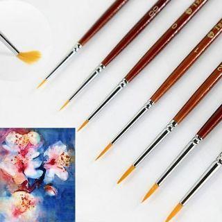 7pcs Professional Paint Brush Set Sable Hair Detail 7 Miniature Acrylic Brushes