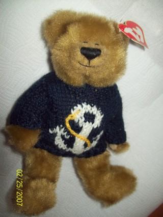 f609e680df2 Free  Salty Anchors Away TY Attic Treasures Beanie Bear - Dolls ...