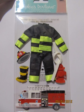 Reminisce - Firefighter Collection - 12 x 12 Double Sided Paper - Fire  Station