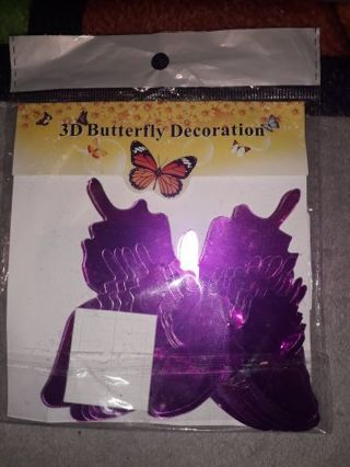 foil butterfly wall decor
