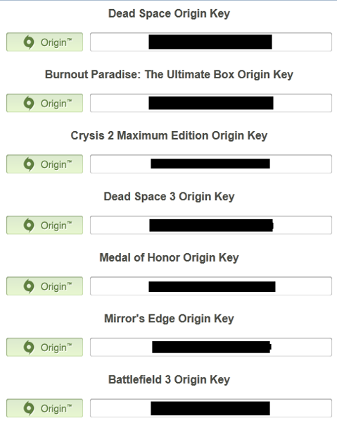 Free: Origin and Steam Redeem Code Key Bundle (Email ...