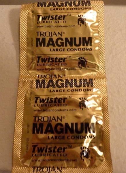 Free: Trojan MAGNUM Large Twister Lubricated Condoms x2