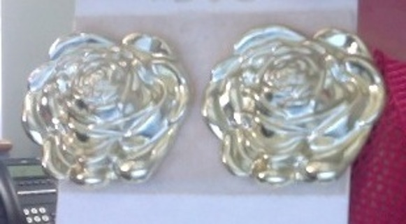 Gold Tone earrings with safety backs
