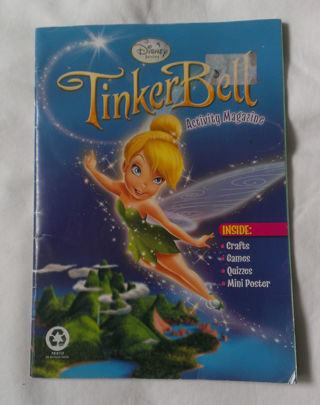 Disney Tinkerbell Activity Magazine - Crafts, Games, Quizzes, Mini Poster
